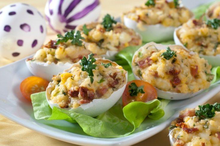 Polish Stuffed Eggs in Shells: Jajka Faszerowane