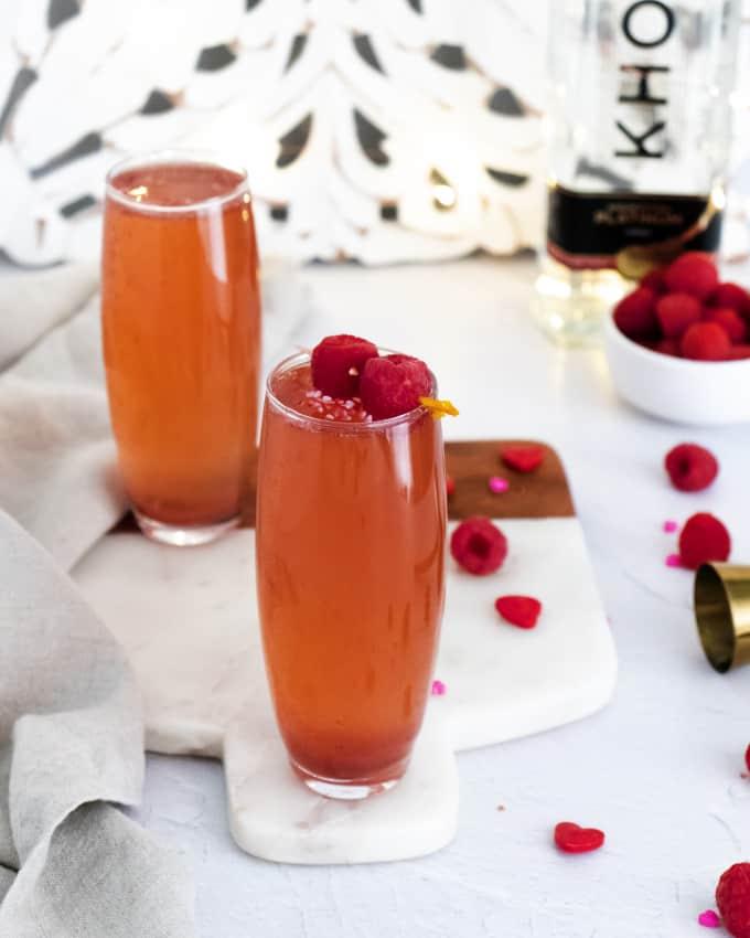 Raspberry Rosé & Vodka Spritzer