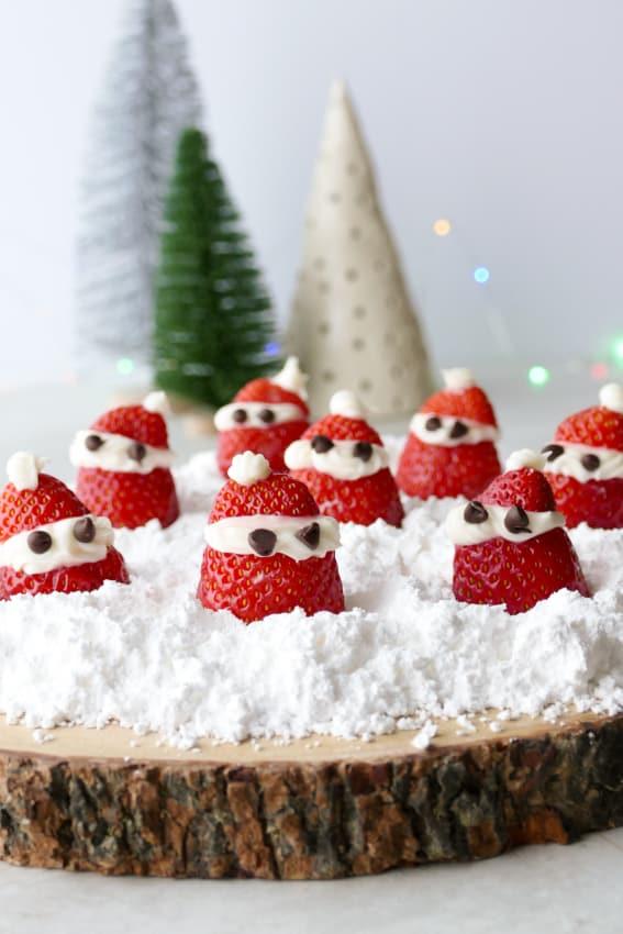 Strawberries Santas with Cream Cheese