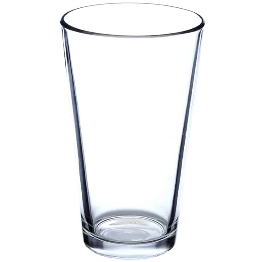 16oz Glass Basic Pint Glass