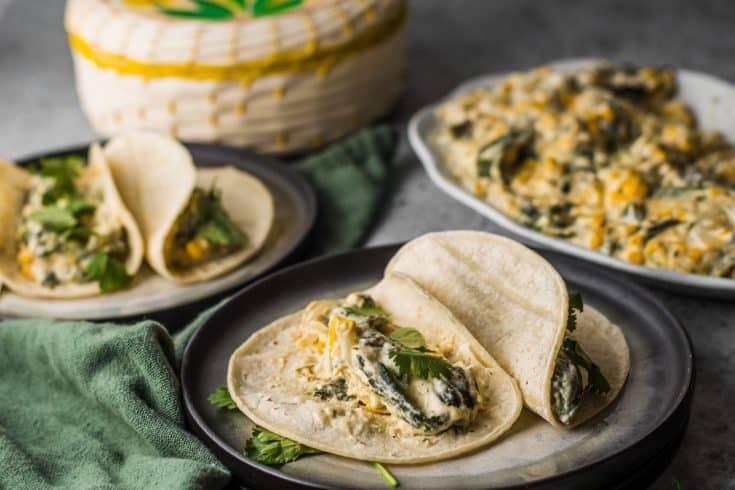 Mexican Rajas con Queso Recipe