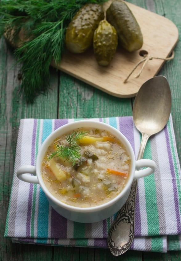 Polish Dill Pickle Soup: Zupa Ogorkowa